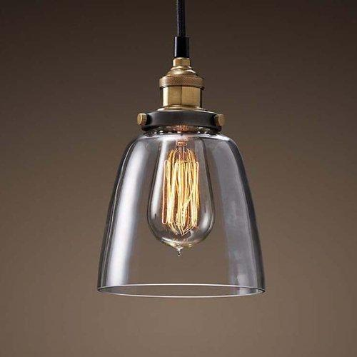 Edison Pendant Lighting Hanging Industrial Vintage Style Glass Fixture brass finish (ED265P)
