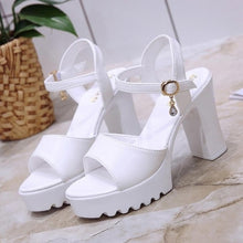 Load image into Gallery viewer, Fashion Shoes Women Fish Mouth Platform Gladiator