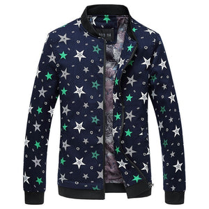 New spring and autumn fashion style men's jacket coat fashion leisure adding fertilizer slim geometry pattern large size jacket