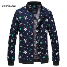 Load image into Gallery viewer, New spring and autumn fashion style men's jacket coat fashion leisure adding fertilizer slim geometry pattern large size jacket