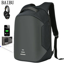 "Load image into Gallery viewer, BAIBU Men Multifunction USB Charging Headphone plug Anti-theft 15.6"" Laptop Backpack waterproof Business Large Travel Backpack"