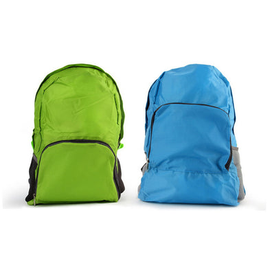 Portable Men Women Zipper Soild Nylon Backpack
