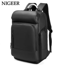 "Load image into Gallery viewer, 15.6"" Laptop Backpack Black Business Male Mochila USB Charging Functional Rucksack Waterproof Leisure Travel Backpack Men n1877"