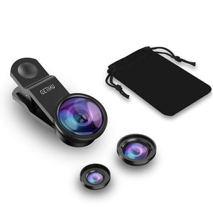 Universal 3 in1 Wide Angle Macro Fisheye Lens for iPHONE