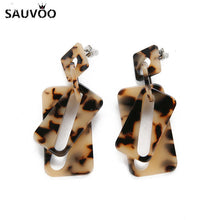 Load image into Gallery viewer, Bohemian Tortoiseshell Earrings for Women 8 Style Vintage Leopard Printed Acetate Acrylic Geometric Earring Jewelry Gift