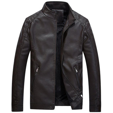 Men Causal PU Jacket