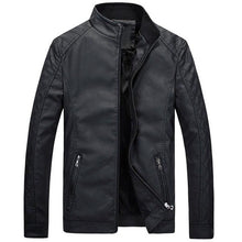 Load image into Gallery viewer, Men Causal PU Jacket