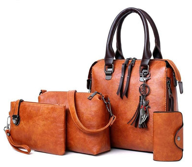 Luxury Leather Purse and Handbags 4pcs  Set