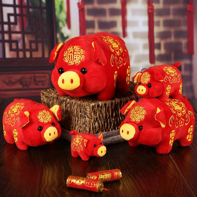 Chinese Zodiac Wealth Plush Toy Fortune Pig
