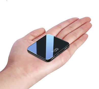 8000mah Thin Mirror Screen 2.1A Fast Charging 3 in 1Built-in Line