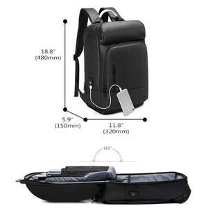 "15.6"" Laptop Backpack Black Business Male Mochila USB Charging Functional Rucksack Waterproof Leisure Travel Backpack Men n1877"