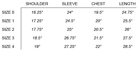SS17 NONNATIVE - CLERK SWEATER SIZE CHART