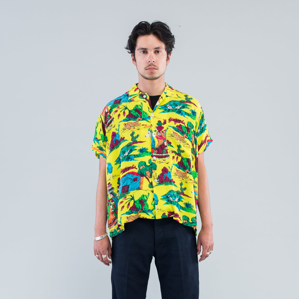 VILLAGE SCENE SHIRT - CREPE DE CHINE