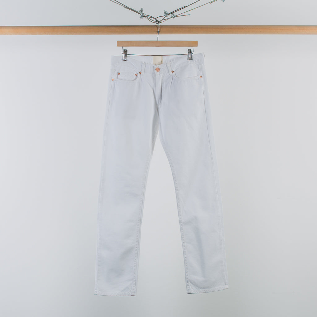 ARCHIVE SALE - BAND OF OUTSIDERS - WHITE 5 POCKET JEANS