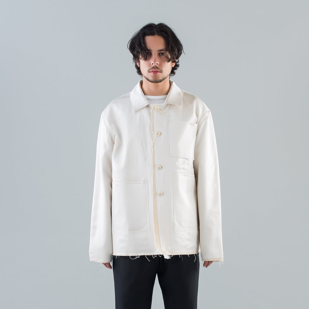 WORKER SILK JACKET - WHITE
