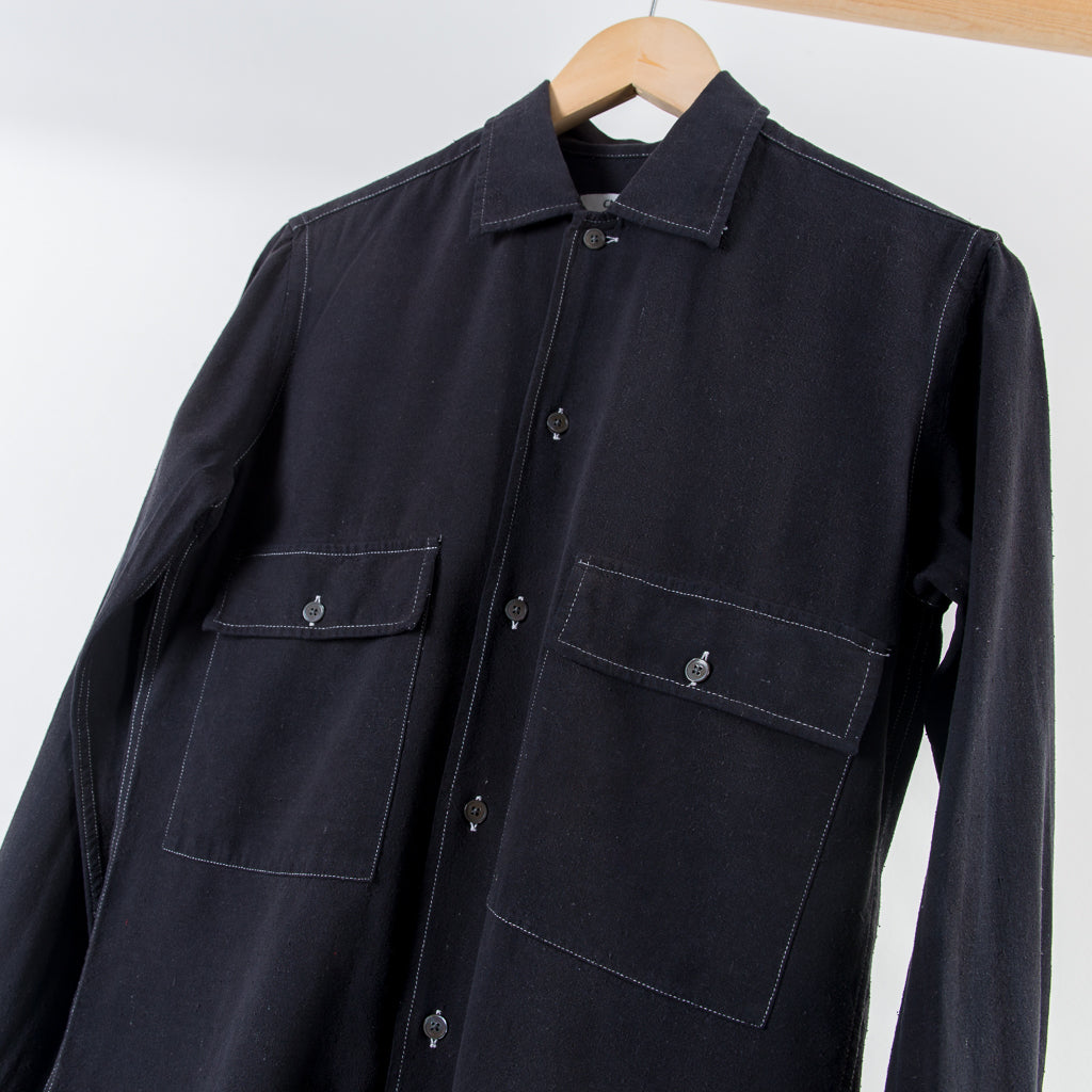 EGON SHIRT WASHED BLACK