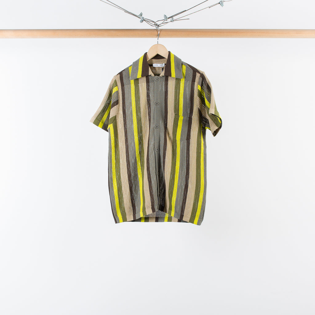 ARCHIVE SALE - CMMN SWDN - WES KNITTED SHIRT - MULTISTRIPE