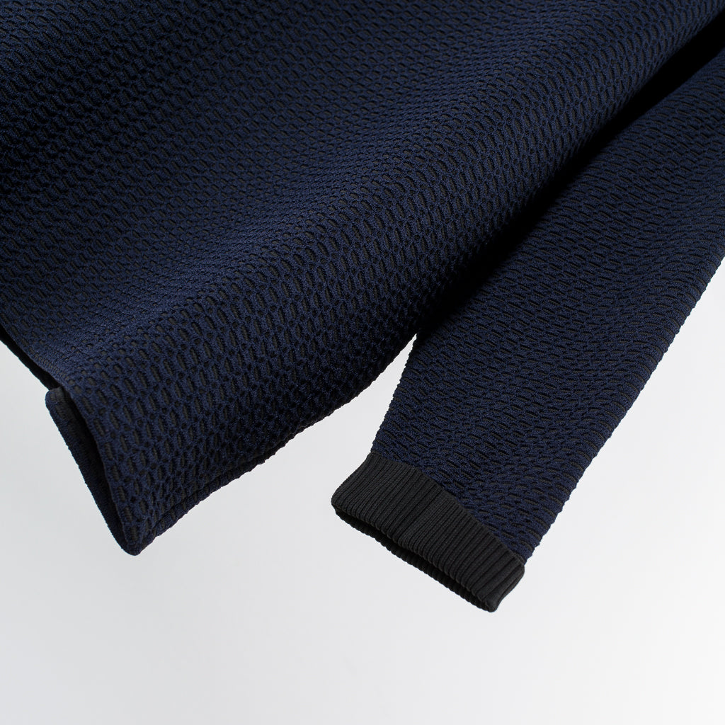 ARCHIVE SALE - CRAIG GREEN - WAFFLE KNIT JUMPER BLACK/NAVY