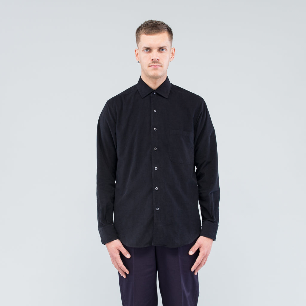 REPLICA SHIRT - BLACK MICRO CORD