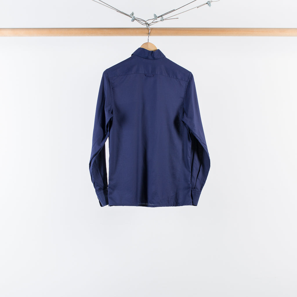 ARCHIVE SALE - COBRA S.C. - ANGELO SHIRT NAVY SOLID STRIPE