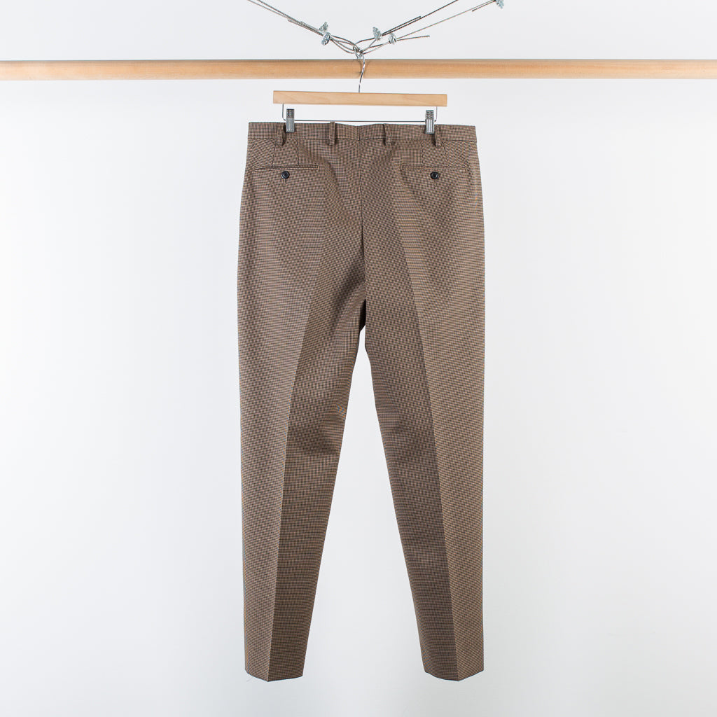 ARCHIVE SALE - COBRA S.C. - CLASSIC TROUSERS - BROWN / BLACK HOUNDSTOOTH