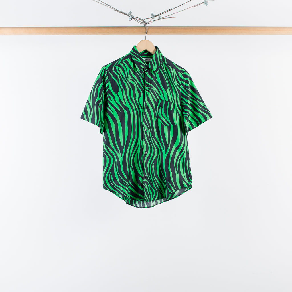 ARCHIVE SALE - COBRA S.C. - SHORT SLEEVE MODEL 1 SHIRT NEON ZEBRA