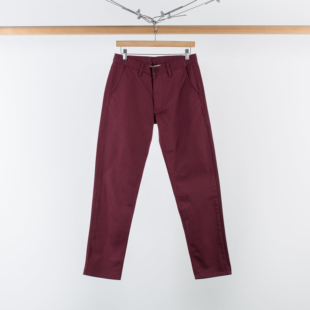 ARCHIVE SALE - DANA LEE - DRY CHINO BURGUNDY