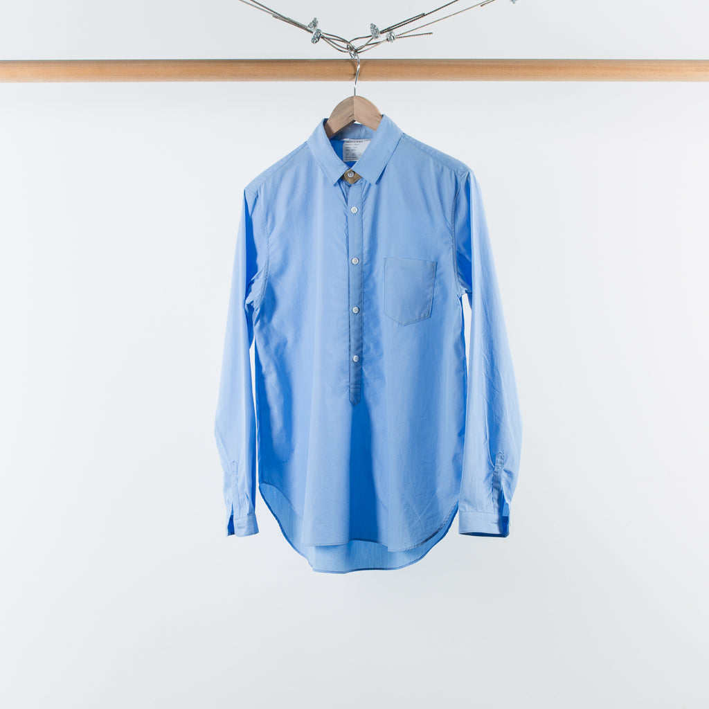 ARCHIVE SALE - DIGAWEL - WOOL NECK BAND SHIRT SAX