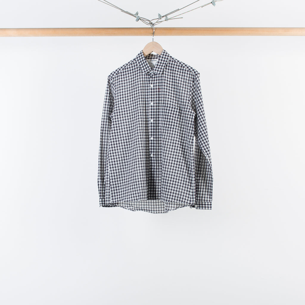 ARCHIVE SALE - DIGAWEL - GINGHAM SHIRT WHITE/BLACK