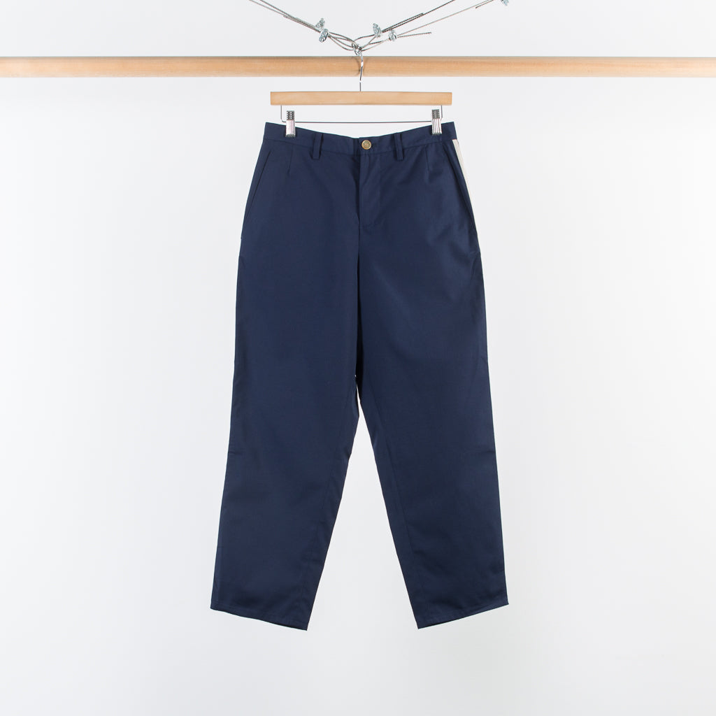 ARCHIVE SALE - DIGAWEL - SIDE PIPPING PANTS NAVY