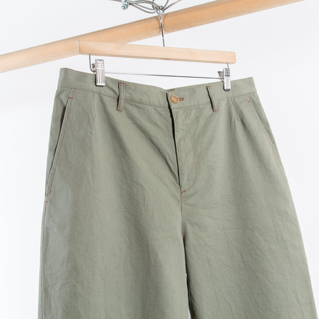 ARCHIVE SALE - DIGAWEL - TAPERED PANTS OLIVE
