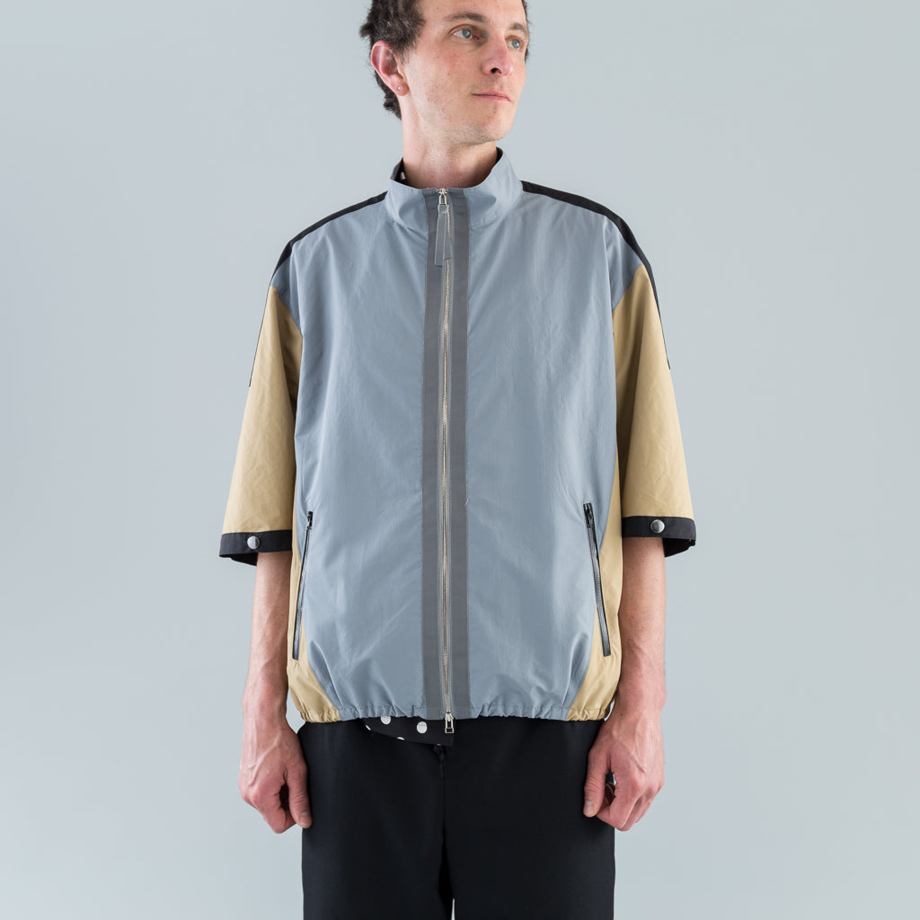 MULTI-COLOR BLOUSON - BLACK / GREY