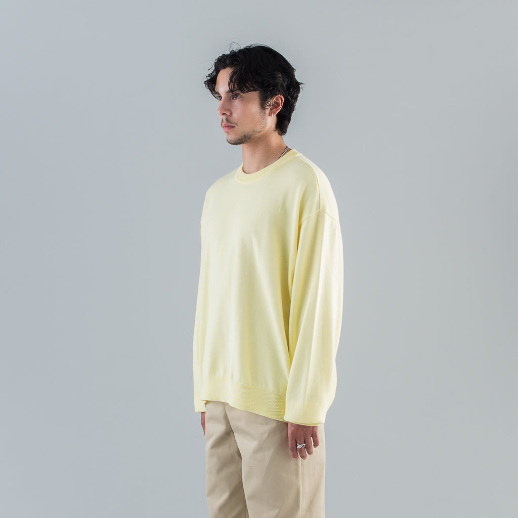 KNIT & SEWN SWEATER - YELLOW