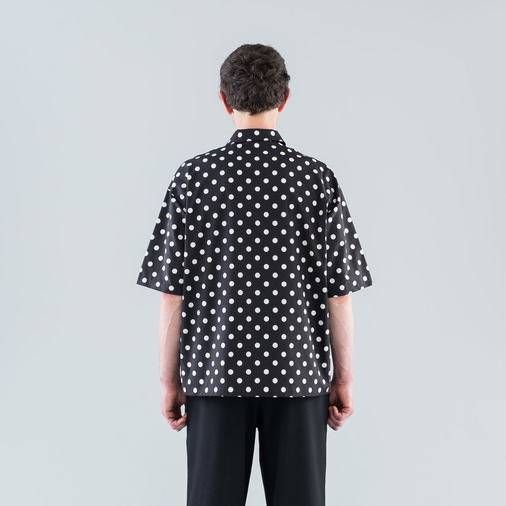 DOT S/S SHIRT - BLACK / WHITE