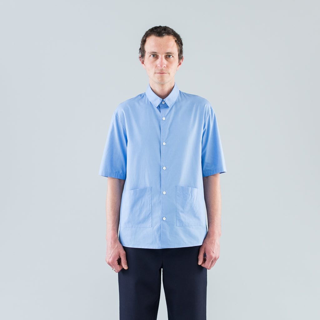 S/S POCKET SHIRT - DARK SAX