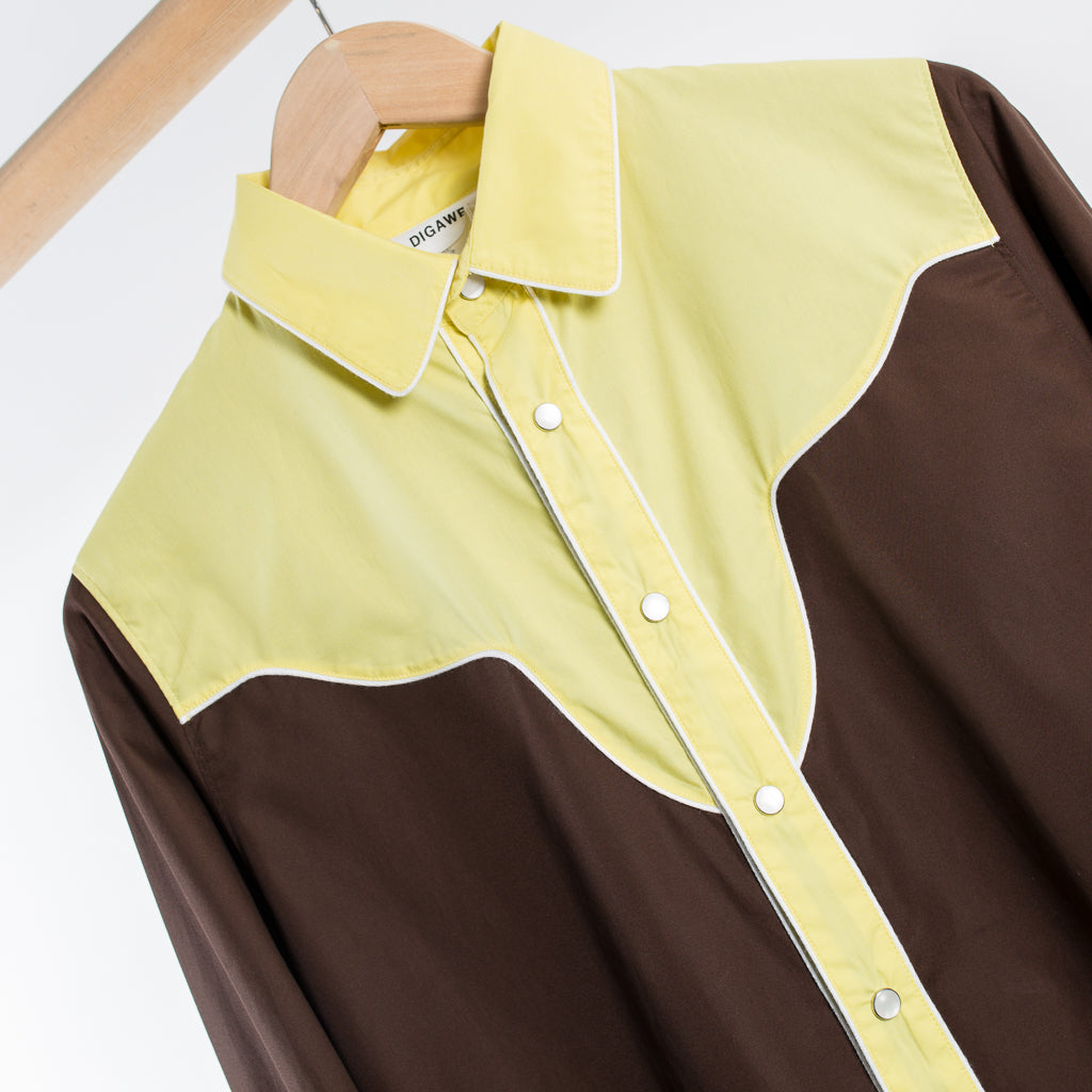 MIX WESTERN SHIRT BROWN / YELLOW