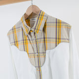 ARCHIVE SALE - DIGAWEL - MIX WESTERN SHIRT WHITE / CHECK
