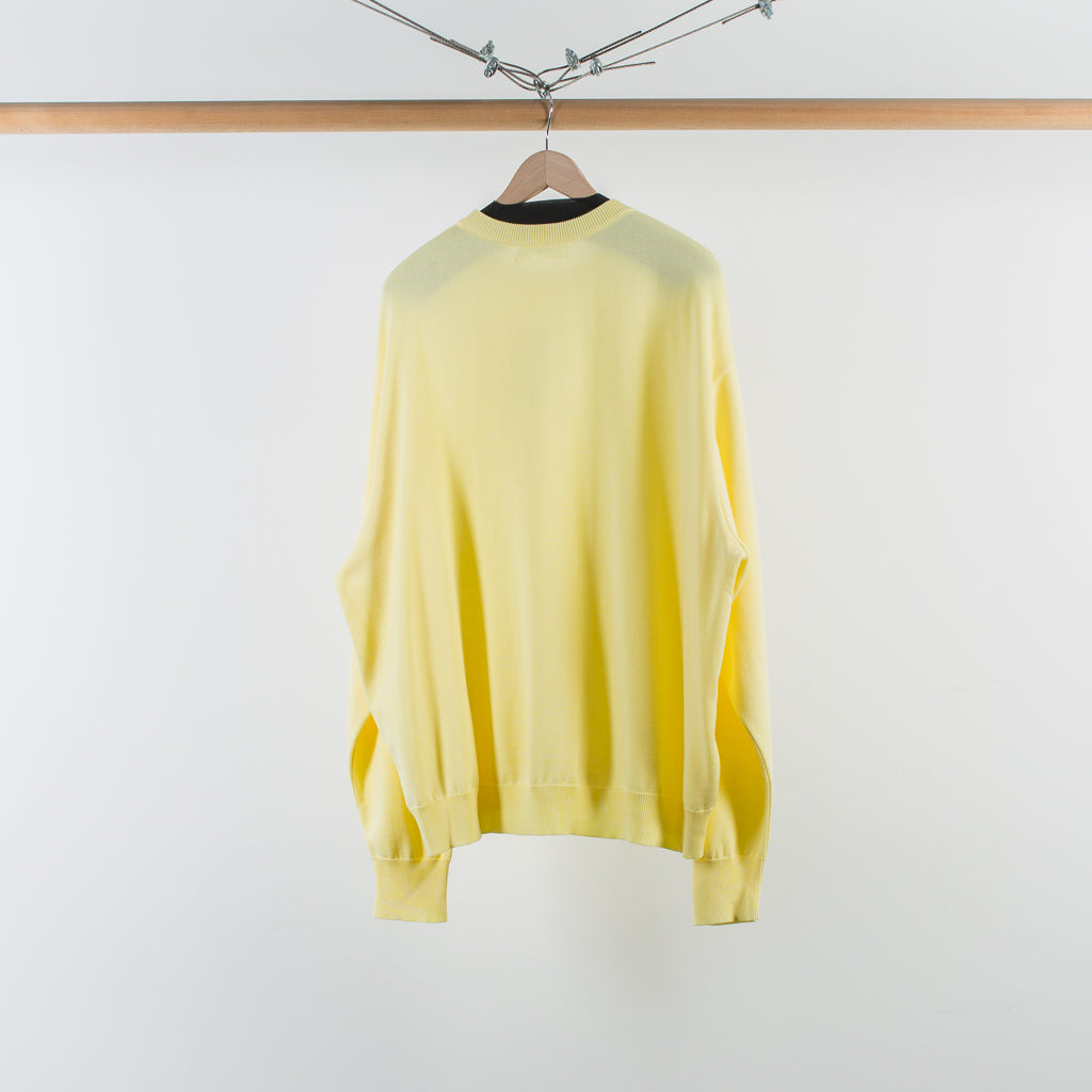 ARCHIVE SALE - DIGAWEL - KNIT & SEWN SWEATER YELLOW