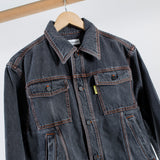 ARCHIVE SALE - GOSHA RUBCHINSKIY - TREATED DENIM JACKET BLACK