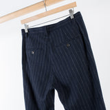 ARCHIVE SALE - GUSTAV VON ASCHENBACH - THE STRIPED LIGHT TWEED TROUSER BLACK