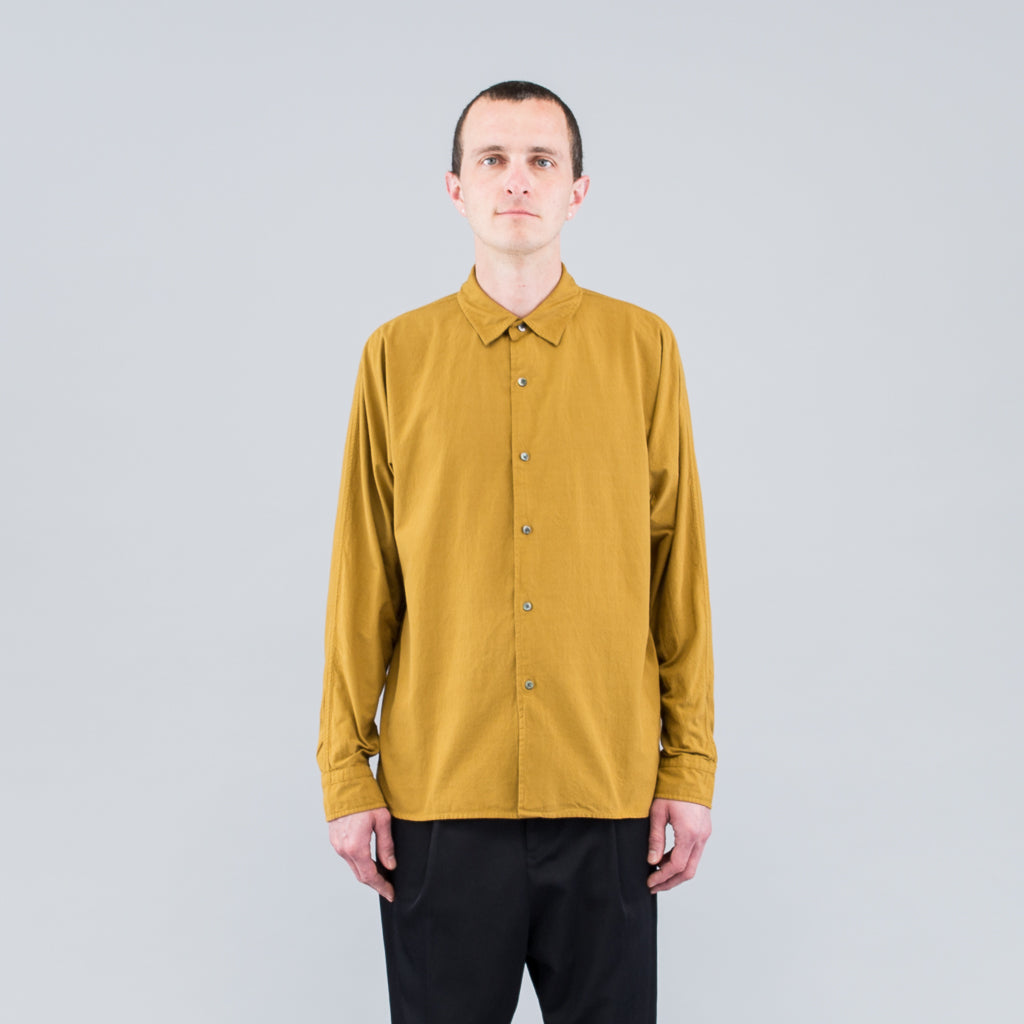 THE LONG SLEEVE COTTON SHIRT - TAPENADE