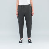 WOOL-LIKE LIGHT TAPERED TROUSER - GREY