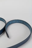 Slim Oval Belt - Navy