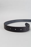 Slim Oval Belt - Black