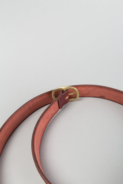Slim Oval Belt - Ox Blood