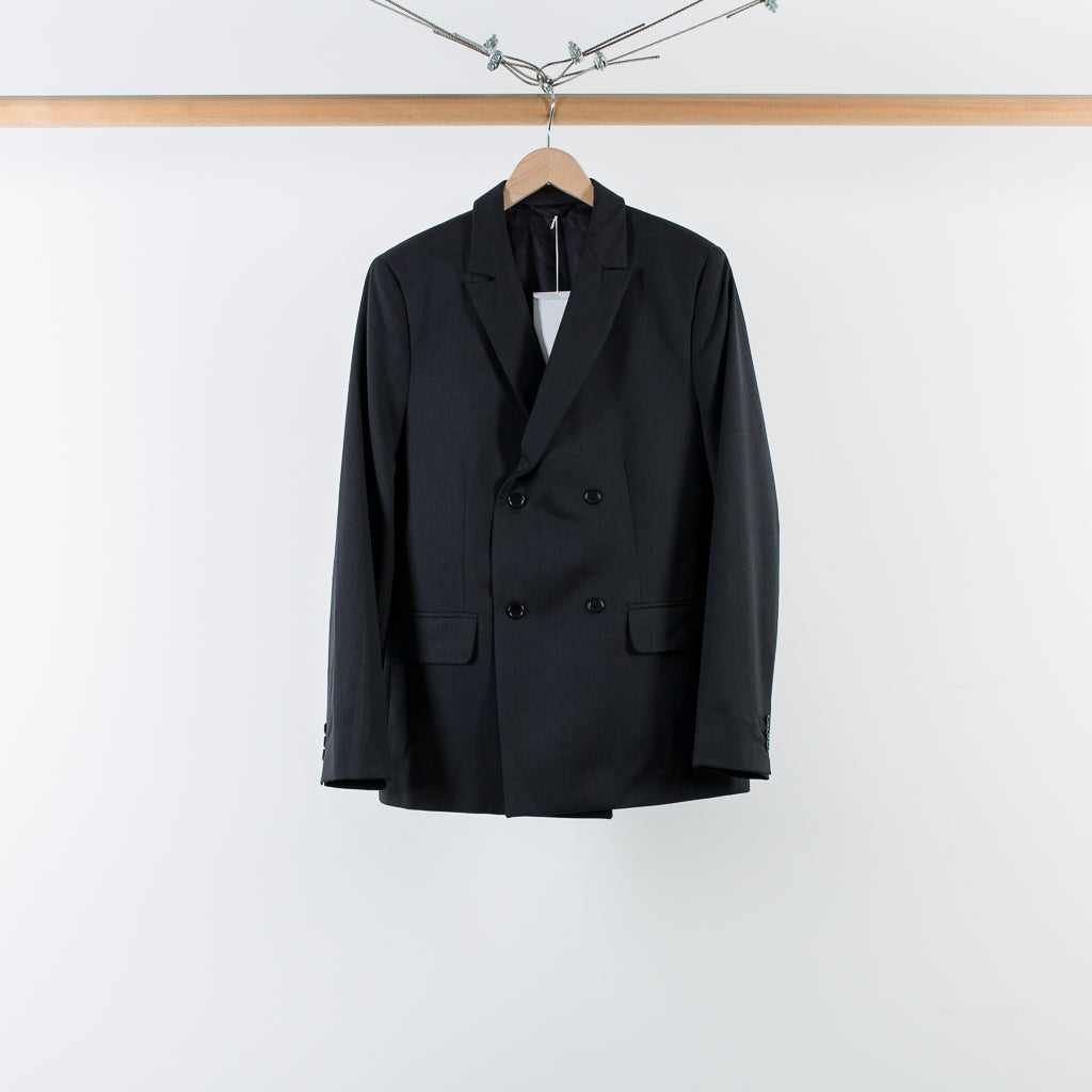 ARCHIVE SALE - MATTHEW MILLER - CURTIS DB BLAZER CHARCOAL