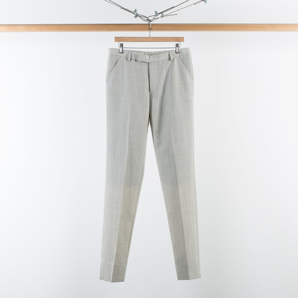 ARCHIVE SALE - MATTHEW MILLER - KVADRAT GREY WOOL TROUSER