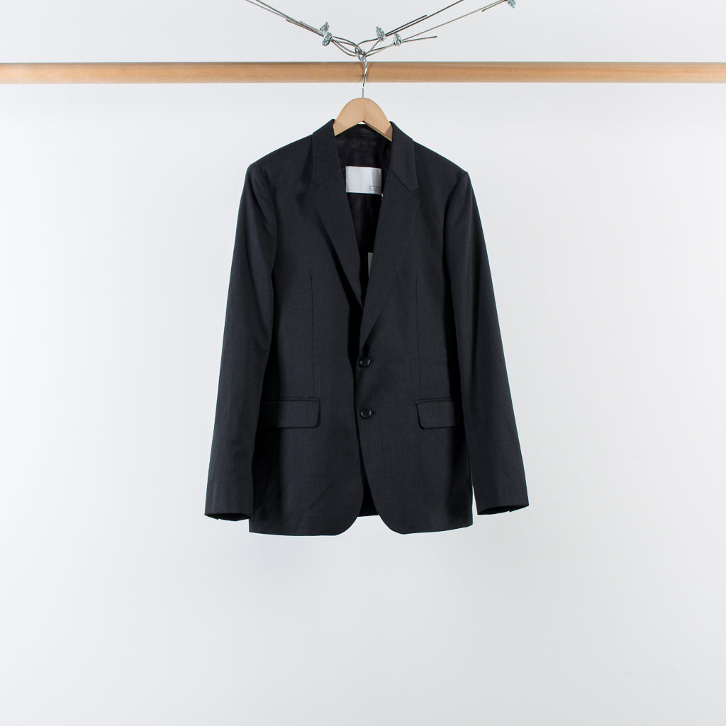 ARCHIVE SALE - MATTHEW MILLER - CURTIS SB BLAZER CHARCOAL WOOL