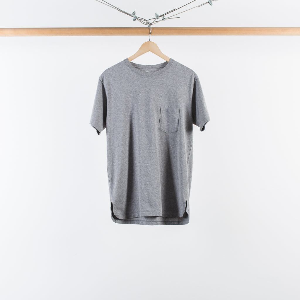 ARCHIVE SALE - NONNATIVE - DWELLER S/S TEE COTTON HEAVY JERSEY GRAY