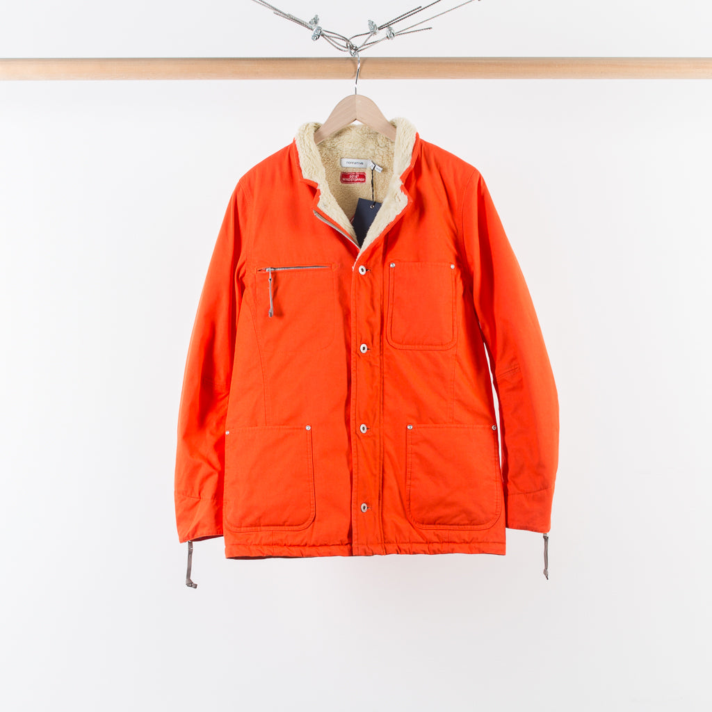 ARCHIVE SALE - NONNATIVE - WINDSTOPPER FARMER BOA JACKET ORANGE